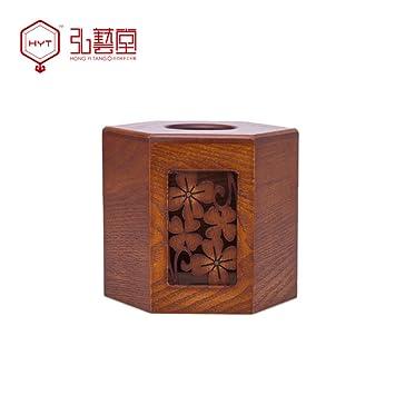 Hong Yi Tong madera Continental creativo caja de pañuelos casete de bombeo carrete toallas sanitarias niño a casa sala en la casa: Amazon.es: Hogar