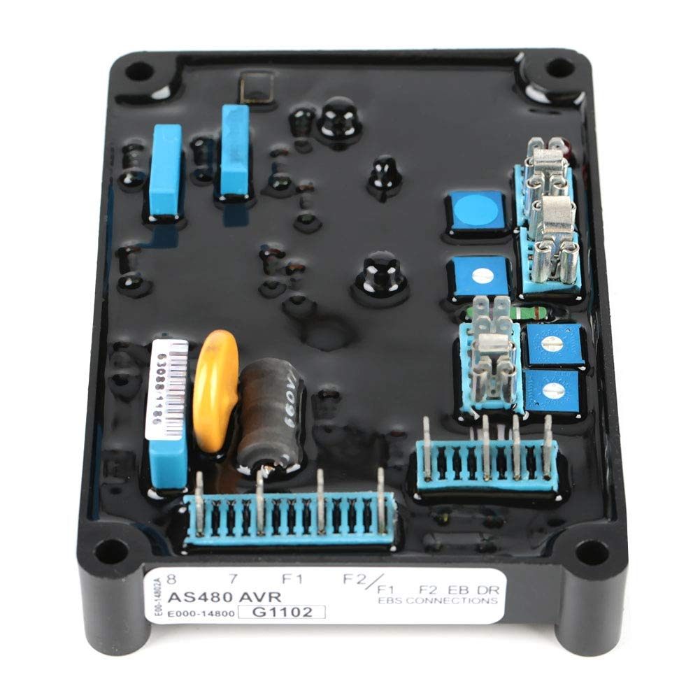 AVR Generator Regulator,AS480 Automatic Voltage Regulator,190-264V AC Input,High Precision,Small Drift,for Engine Voltage Regulate