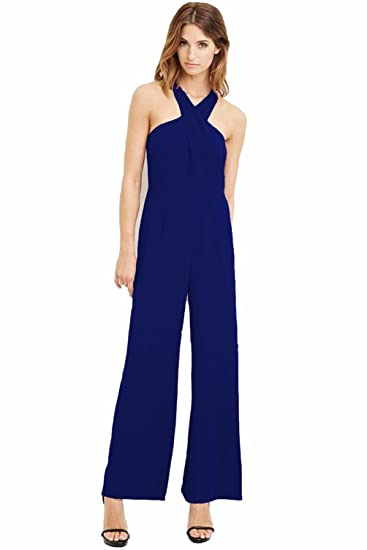 TT Global Femme Bodysuit Jumpsuit Combinaisons Maxi Pantalons Été Casual Épaule  Dénudée Sexy Slim Plage Cocktail 41959025e3ea