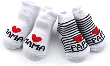 I Love Dad Jungen Mädchen Unisex Socken Strümpfe I Love Mum