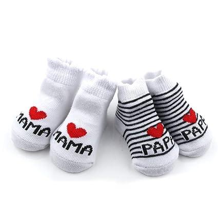 Distinct® calcetines de algodón de bebé I Love Mama + te amo PaPa ...