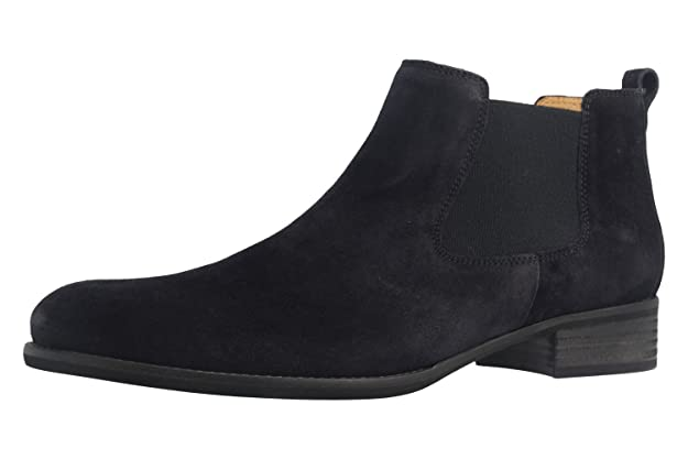 Gabor Damen Fashion Chelsea Boots Schwarz
