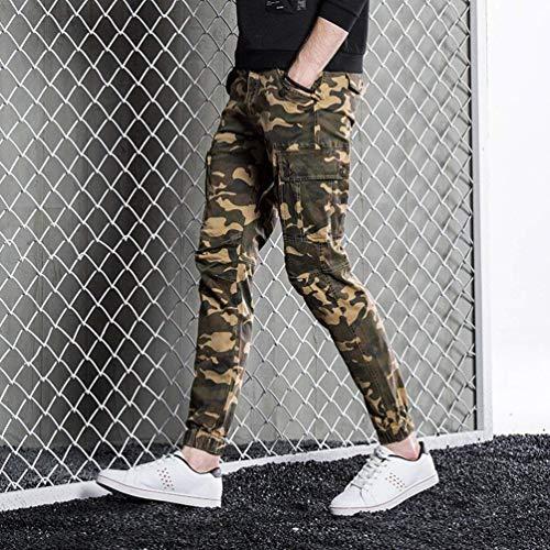 Cargo Hx Da Khaki Fashion Multiuso Pantaloni Lavoro Comode Taglie Abiti Uomo Mimetici All'aperto EEFTqxC