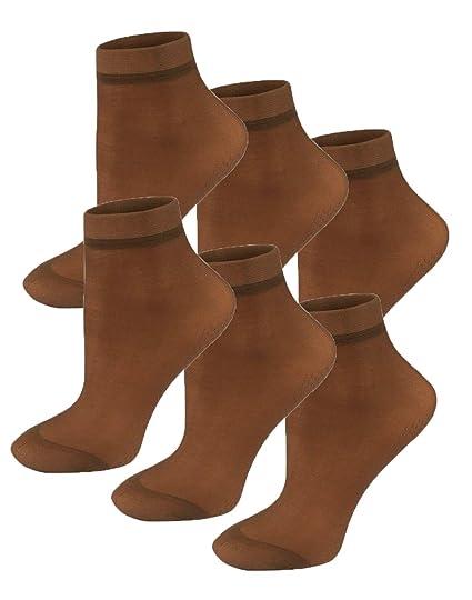 8d61ce73ca72b MO-KO-KO - 6 Pairs black ankle dress socks women Ultra Thin Elastic ...