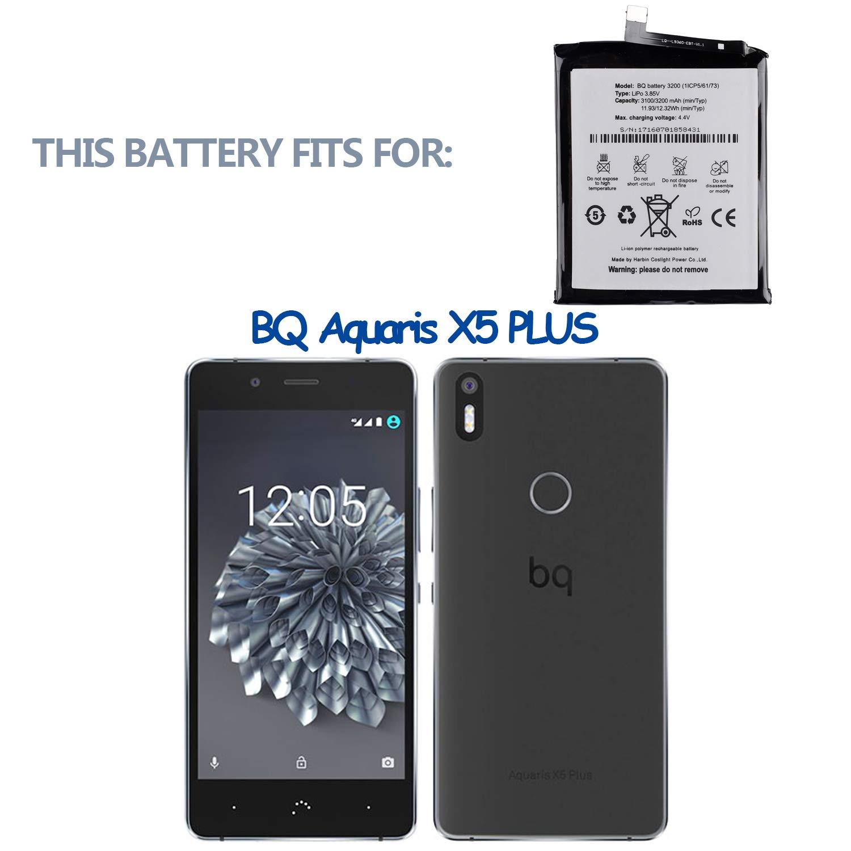SWARK BQ 3200 - Batería Compatible con BQ Aquaris X5 Plus ...