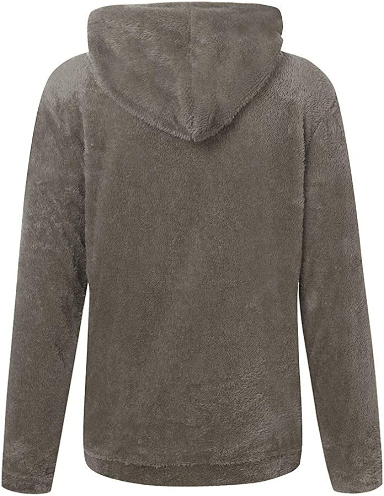Kansopa Hooded Sweatshirt Leopard Patchwork Pullover Zipper Pockets Plush Winter Women Warm Wool Cotton Outwear