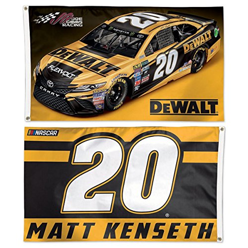 WinCraft Matt Kenseth Dewalt #20 Double Sided Flag