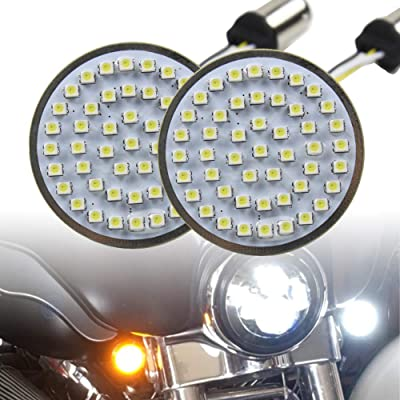 "Motorcycle LED Light 2"" 50mm Bullet Style LED Turn Signals Pannel For Motor bike Sporter Softail Touring (1157 base-1) …: Automotive"