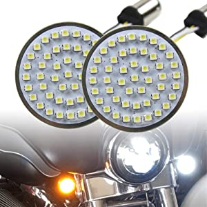 "Motorcycle LED Light 2"" 50mm Bullet Style LED Turn Signals Pannel For Motor bike Sporter Softail Touring (1157 base-1)"