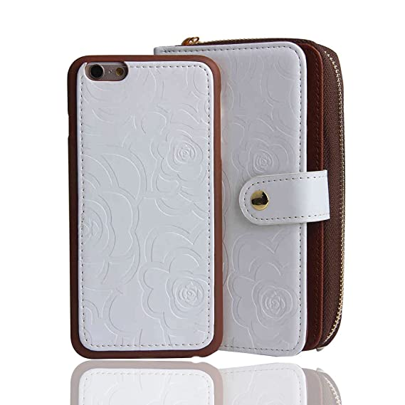df964afb96a RAYTOP [Magnetic Phone Case Removable From Wallet] Flip Cover for iPhone 6  / iPhone