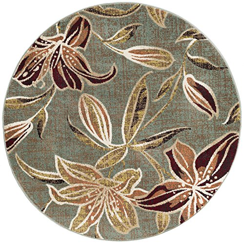 Universal Rugs DCO1113 8RND Lily Area Rug, 8' Round, ()