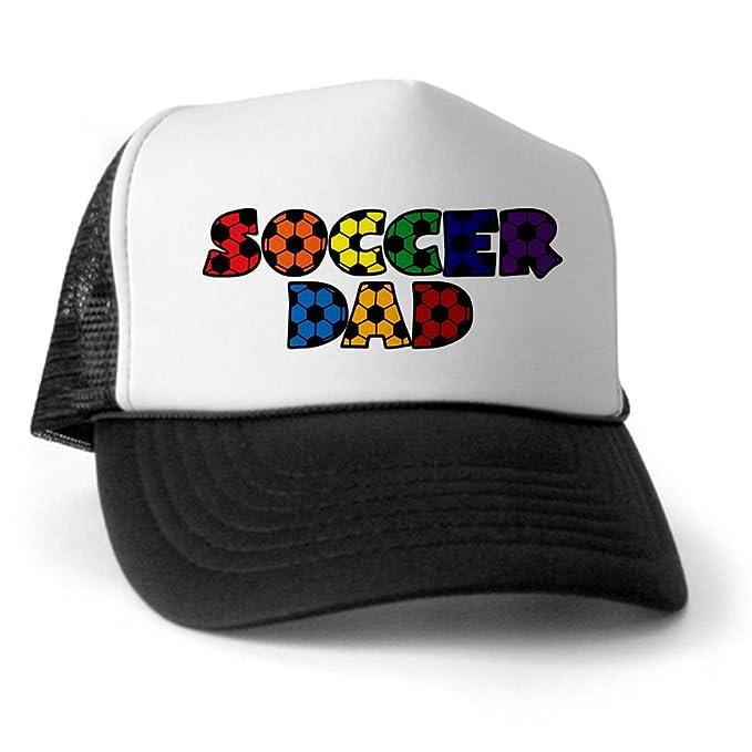 4f8fb54b Amazon.com: CafePress - Soccer Dad Trucker Hat - Trucker Hat, Classic Baseball  Hat, Unique Trucker Cap Black/White: Clothing