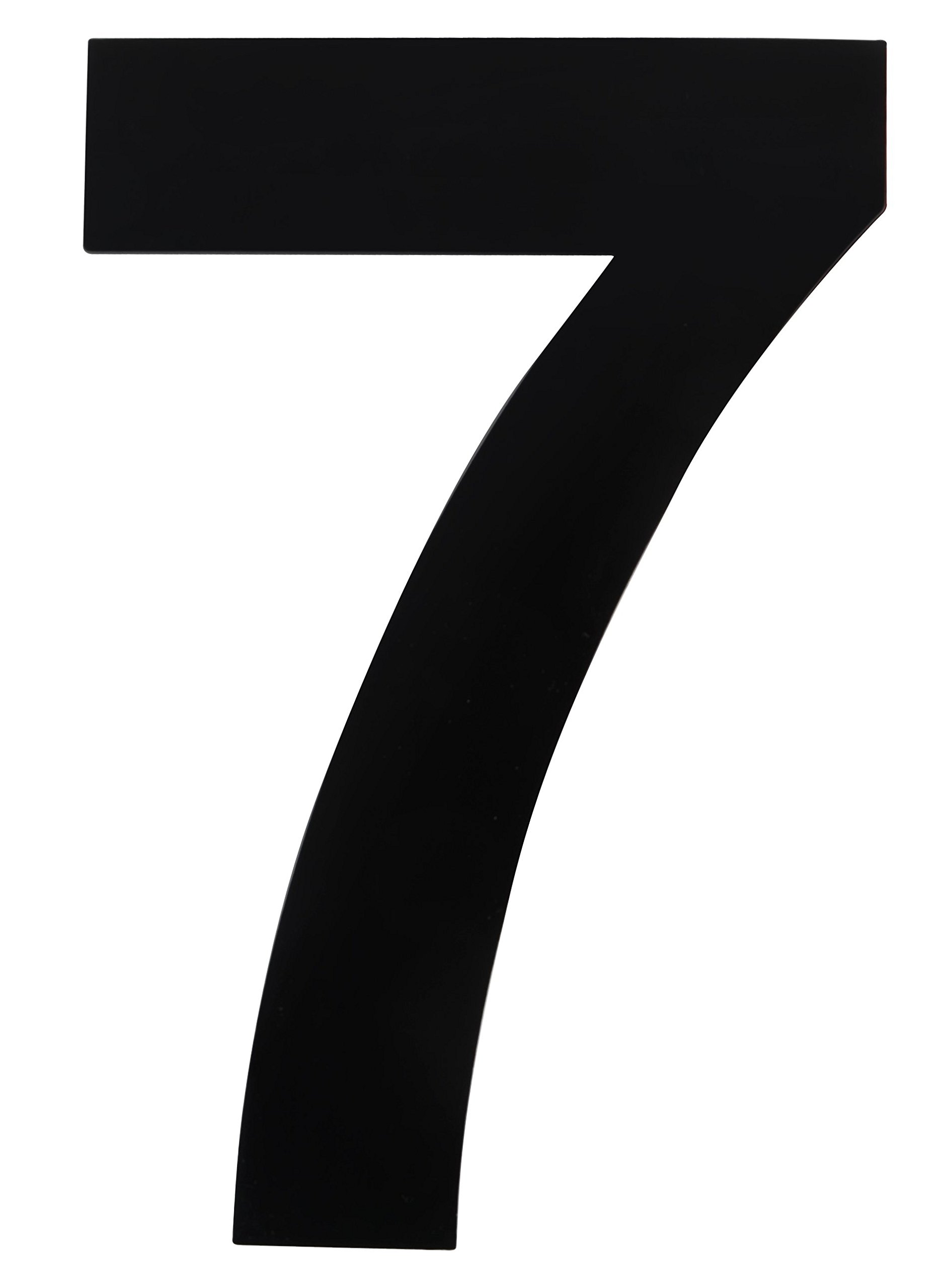 QT Modern House Number - 6 Inch Black - Stainless Steel (Number 7 Seven), Floating Appearance, Easy to Install and Made of Solid 304 Stainless Steel