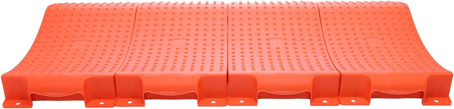 Car Tire Wheel Ramps for Flat Spot and Flat Tire Prevention Homeon Wheels Tire Saver Ramps Anti-Slip Pads Design Carrying Bag Red Tire Savers for Storage WH-500 Easy to Store 4 Pack