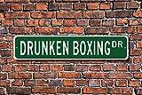 Drunken Boxing Sign Drunken Boxing Fan Chinese Martial Art Discipline Zui Quan Wall Art Sign Decorative Plaque Post Street Sign 45 x 10cm