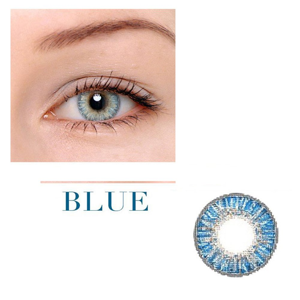 Women Multicolor Cute Charm and Attractive Fashion Contact Lenses Cosmetic Makeup Eye Shadow - Blue