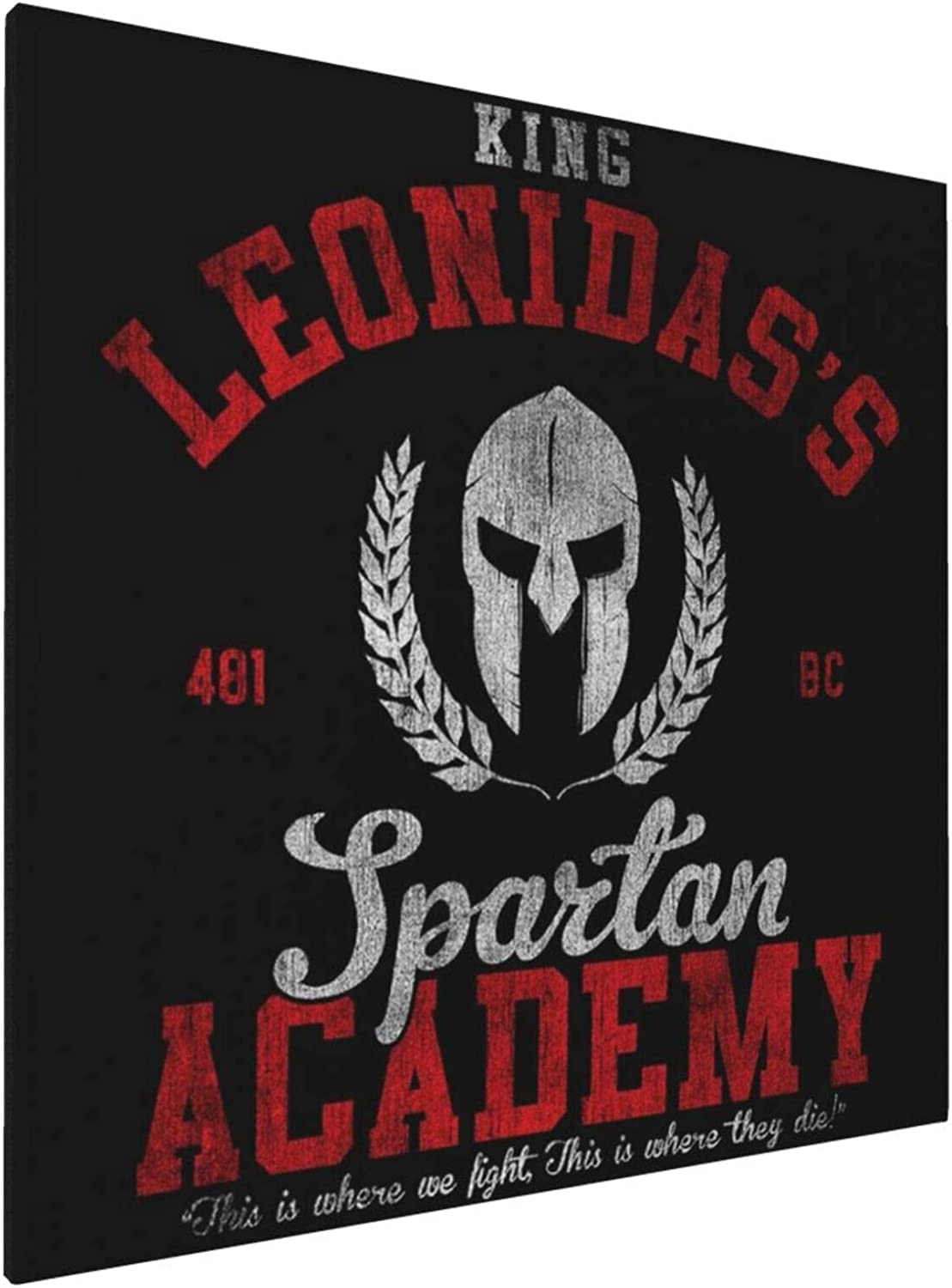 1007 Canvas Prints Wall Art Paintings(20x20in) King Leonidas Spartan Academy 300 Pictures Home Office Decor Framed Posters & Prints