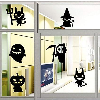 Mddjj Serie Halloween Vetrofanie Adesivi Per Vetrine Paesaggio ...