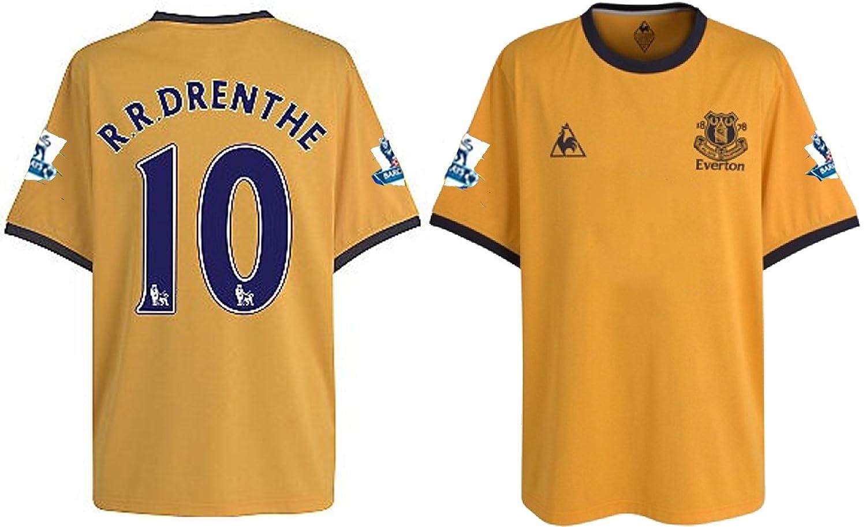 Everton DRENTHE 10 lejos camiseta de fútbol 2011/12 (XLB): Amazon.es: Deportes y aire libre