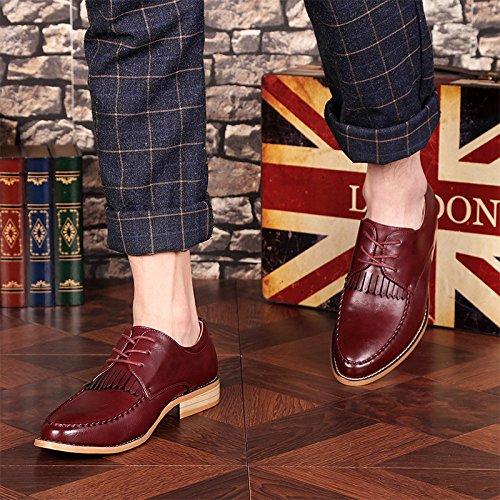 Occasionnels Chaussures Red2 Chaussures Rétro Petites Angleterre Chaussures pour pour Chaussures en Hommes Cuir Hommes DHFUD tZqT6Onx