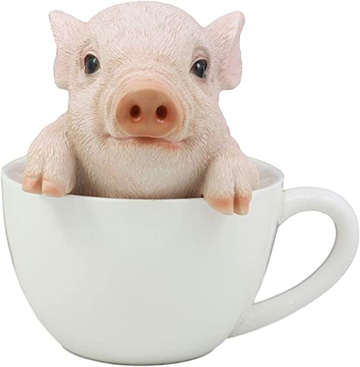 Details about  /I Love Teacup Pigs Cotton Shopping Bag Cream Choice of Colours Black