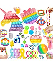 30 Pcs Sensory Relief Toy Set Cheap, Fidget Toys Set For Kids Stress And Anxiety Relief Fidget Toys, Cheap Fidget Toy Kit, Fidget Set With Bubble Fun Dimple Fidget Stress & Sticky balls, Etc