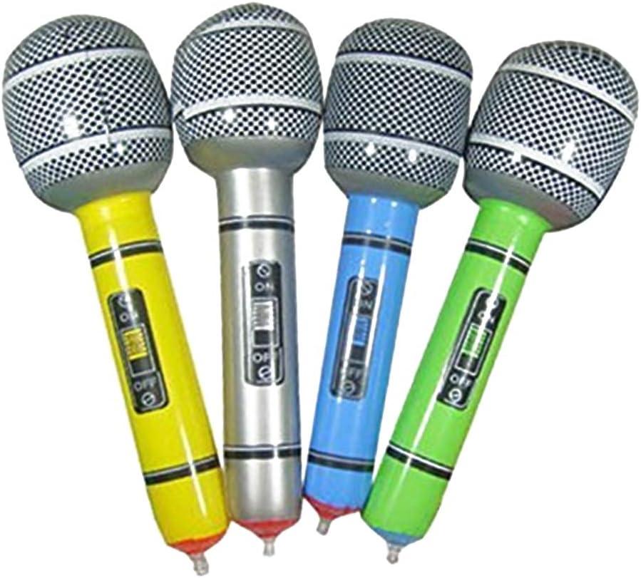 Naisicatar Un Paquete Inflable micrófono Universal Blow Up micrófono para Cantar Rock Party Fiesta Juguete Disco Tiempo Material Color al Azar Juguete Interesante: Amazon.es: Juguetes y juegos