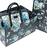 Gucci Blue Small gg Blooms Blossom Duffle Bag Canvas Boston Bag Authentic New