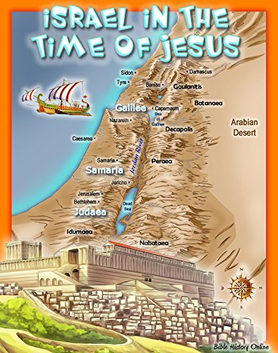 Laminated Map of Israel in the Time of - Store Israel Online