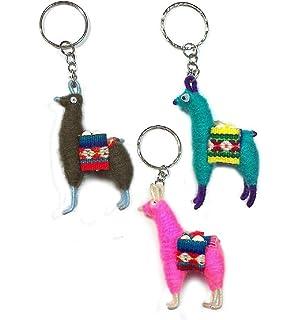 HANDMADE in PERU keychains charms wholesale 100 LLAMA KEYRINGS