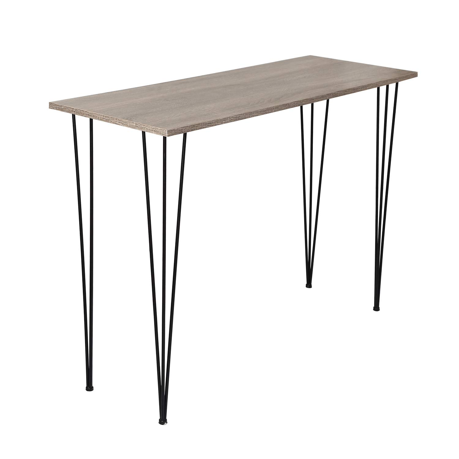 Adeco Console Tables, Modern Studio Collection, Rectangular Entryway/Sofa Tables for Living Room Or Hallway, Wood Table Top, 44x15x32 Inches, Brown by Adeco