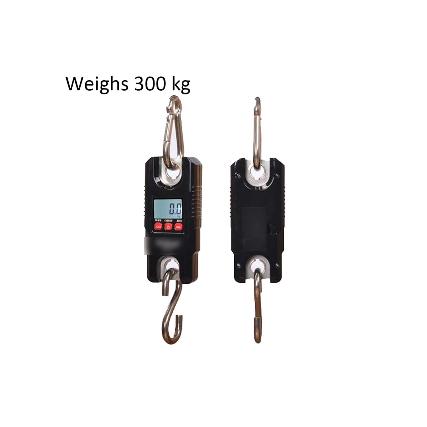 300Kg/660Lb Electronic Mini Digital Hook Scale Luggage Lcd Portable Stainless Steel Heavy Scale,0.1Kg-300Kg