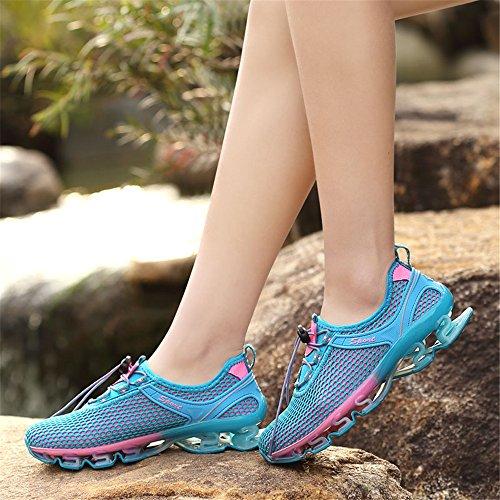 Running Lightblue Respirant Chaussures Formateurs Dcontract Marche Sport Performance Kubua Slip Hommes on Femmes Maille qOwpzgw