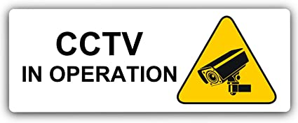 Aluminium Sign-CCTV In Operation-Metal-Warning Security Door Notice Office Shop