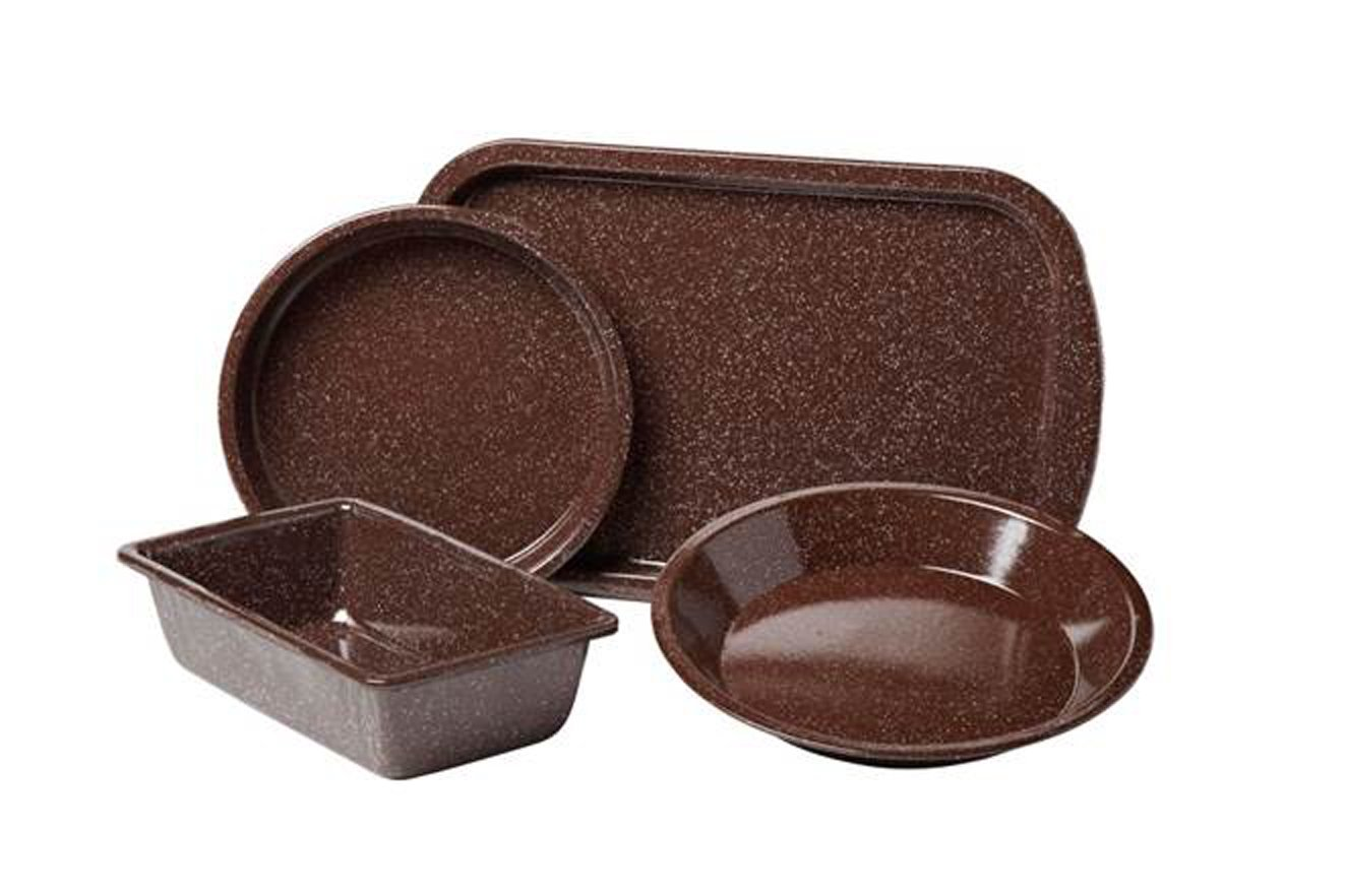 Granite Ware Better Browning Bakeware Set, 4-Piece, Brown Columbian Home Products F0631-2