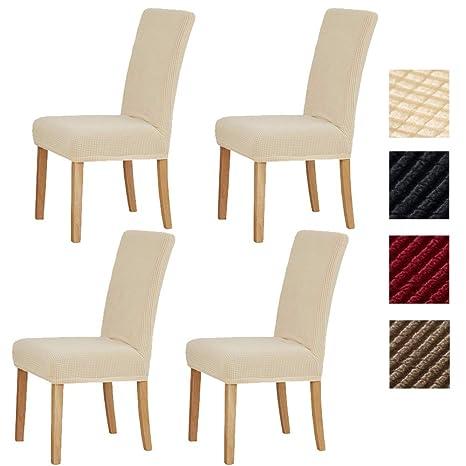 Sonnis Fundas para sillas Pack de 4 Fundas sillas Comedor, Lavable ...