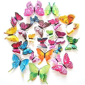 Amazon Com Fly Spray Creative 24pcs Vivid Butterfly Special Man
