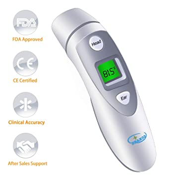 Clinical Ear and Forehead Infrared Digital Thermometer NEW 2018 model for /& for