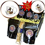 3dRose All Smiles Art Drinking - Funny Cool Rattlesnake Drinking White Wine Cartoon - Coffee Gift Baskets - Coffee Gift Basket (cgb_281414_1)