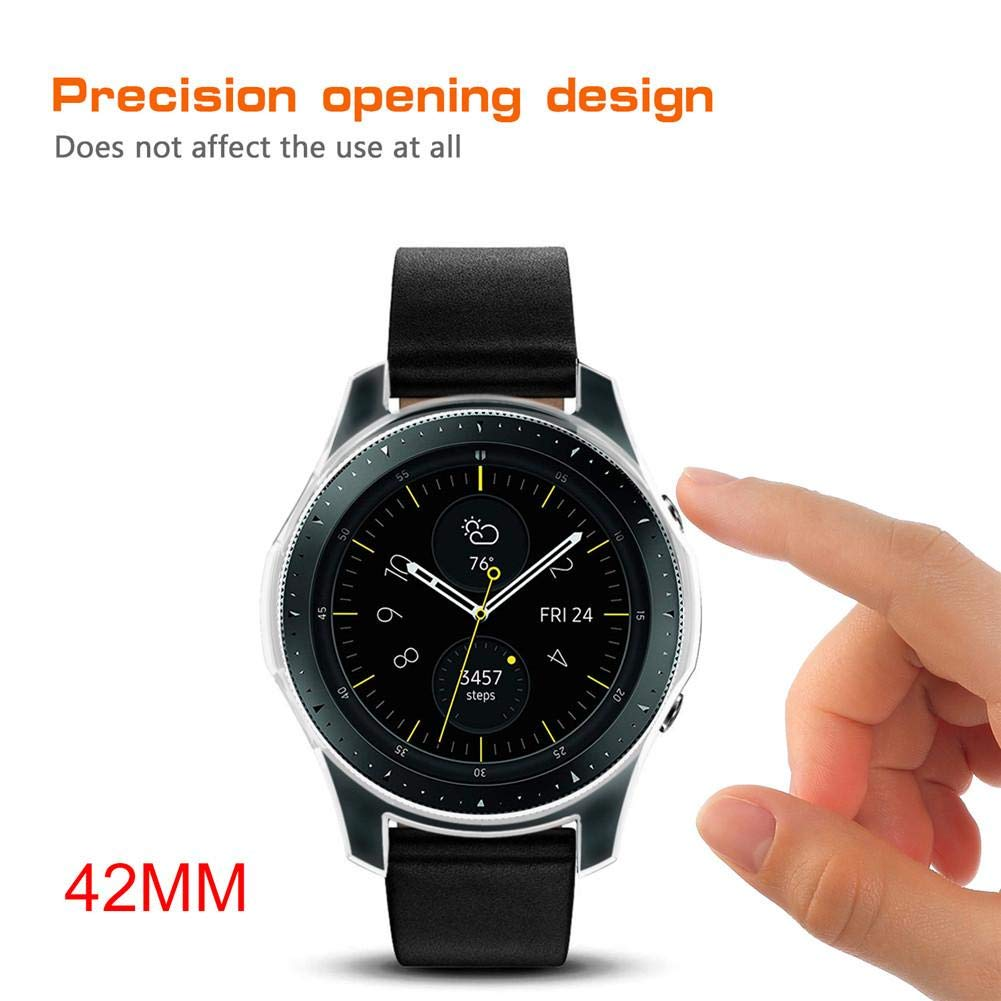 Eruditter Montre en Silicone pour Samsung Galaxy Watch 42 mm 46 mm Gear S3 Frontier Shell: Amazon.fr: High-tech