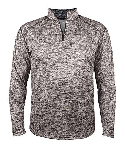 (Badger Sport BG4192 Men's Blend 1/4-Zip Pullover Graphite M )