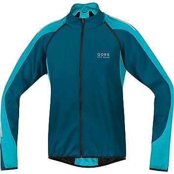 Gore Bike Wear- Hombre- Chaqueta de Ciclismo Phantom 2.0 Windstopper Soft Shell- Azul/Azul Claro, Talla M- JWPHAM: Amazon.es: Zapatos y complementos