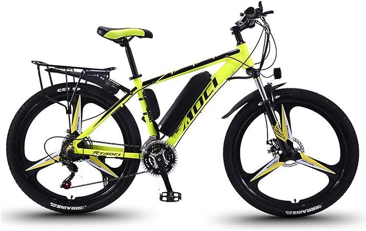 26 Pulgadas Neumático Gordo Bicicleta Eléctrica, Motor de Rueda Trasera de 250 W, Batería de Litio Frenos de Disco Hidráulicos,B,10AH: Amazon.es: Hogar
