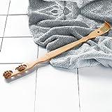 Bambus Holz Rückenkratzer und Körper Massagegerät - Geschenk für Sie und Ihn - perfekte Massage am Rücken, Nacken, Beine oder Fuß