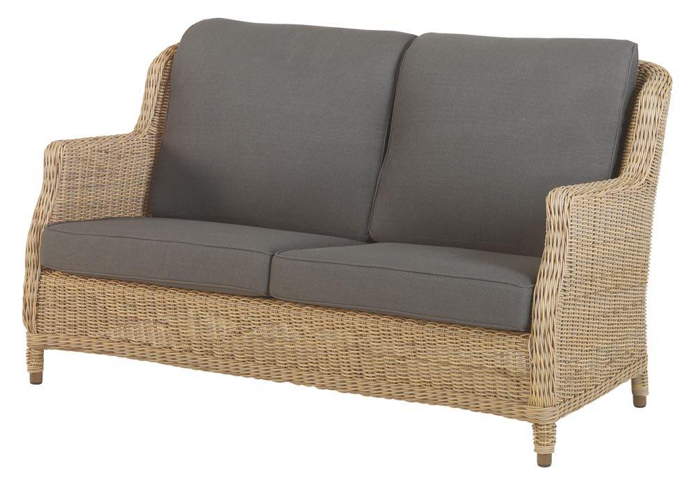 4Seasons Brighton 2,5-Sitzer Sofa mit 4 grauen Kissen