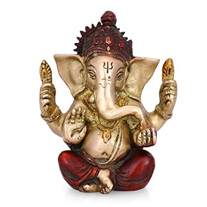 cc0f00181c Buy Collectible India Ganesha Brass Idol Hindu God Ganpati Idol Ganesh  Sculpture Home Decor Gift Online at Low Prices in India - Amazon.in