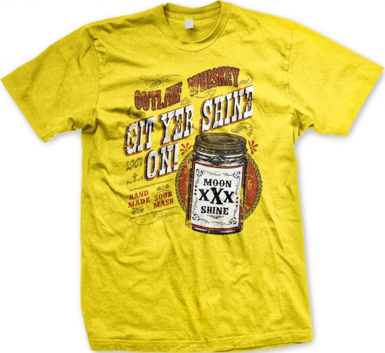Outlaw Whiskey, XXX Moonshine Men's T-shirt, Git Yer Shine