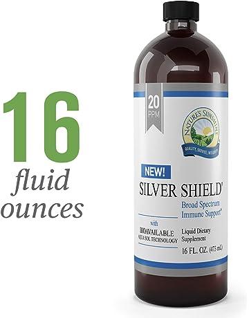 Natures Sunshine Silver Shield Liquid, 16 fl. oz. | Colloidal Silver Liquid with