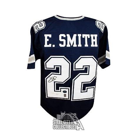 the best attitude 42701 39ff9 Emmitt Smith Autographed Jersey - Custom Navy COA - JSA ...