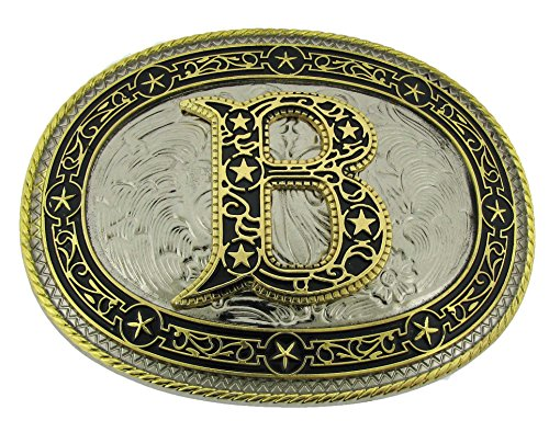 Initial B Belt Buckle Siskiyou Co Us Metal New Men Fashion Costume Cowboy Style
